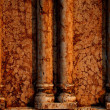Marble wall with columns — Stock Photo