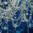 Vintage crystal chandelier. - Stock Photo