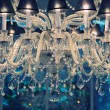 Vintage crystal chandelier. — Foto Stock