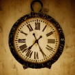 Vintage wall clock. - Stock Photo
