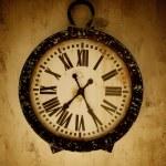 Vintage wall clock. — Stock Photo