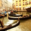 Traditional gondola ride — Stock Photo