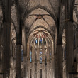Stock Photo: cathedral of santa eulalia in barcelona