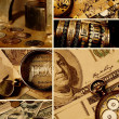 Money collage — Stockfoto