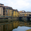 Ponte Vecchio bridge in Florence, Italy. - Stock Photo