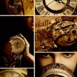 Time collage — Stockfoto