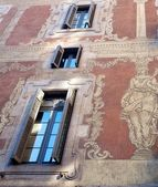 старое здание фасад — Стоковое фото