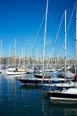Yachts & boats in a harbour. — Stock Photo