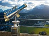 A telescope for observation of Salzburg city. — Stock Photo