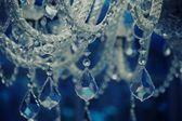 Vintage crystal chandelier. — Stock Photo