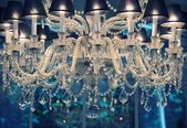 Vintage crystal chandelier. — Stock Photo