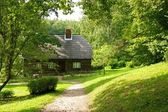 Old wooden house in the forest. — Stock Photo