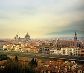 Florence city view from Piazzale Michelangelo, Italy. — Stock Photo