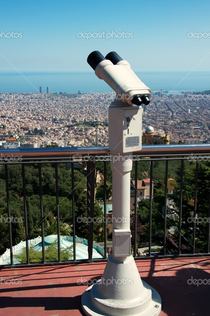 Panoramic view of Barcelona city — Stock Photo #10214324