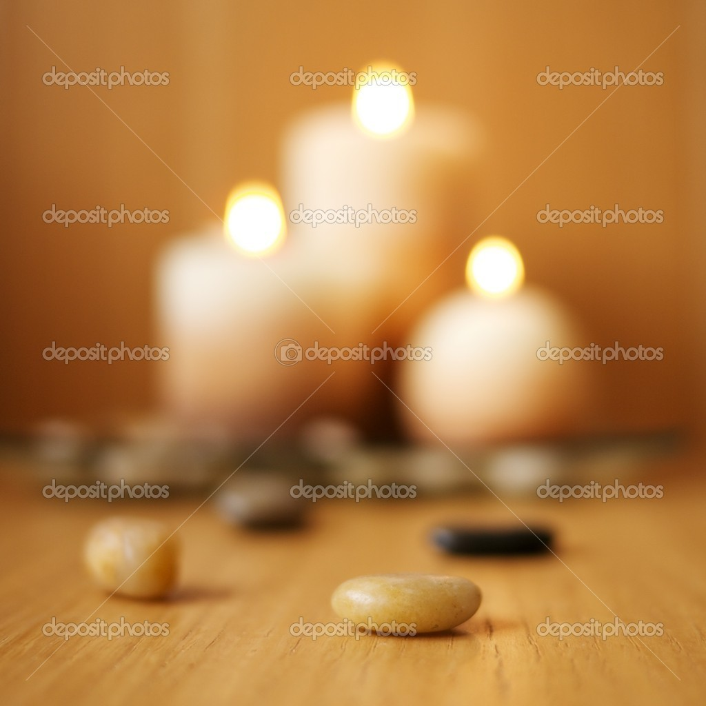 Blurred candles — Stock Photo #10215119