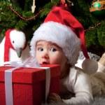 Baby santa — Stock Photo #8601154