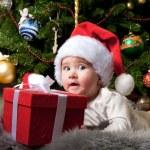 Baby santa — Stock Photo #8601157