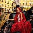 Venetian woman — Stock Photo