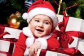 Dziecko santa — Zdjęcie stockowe