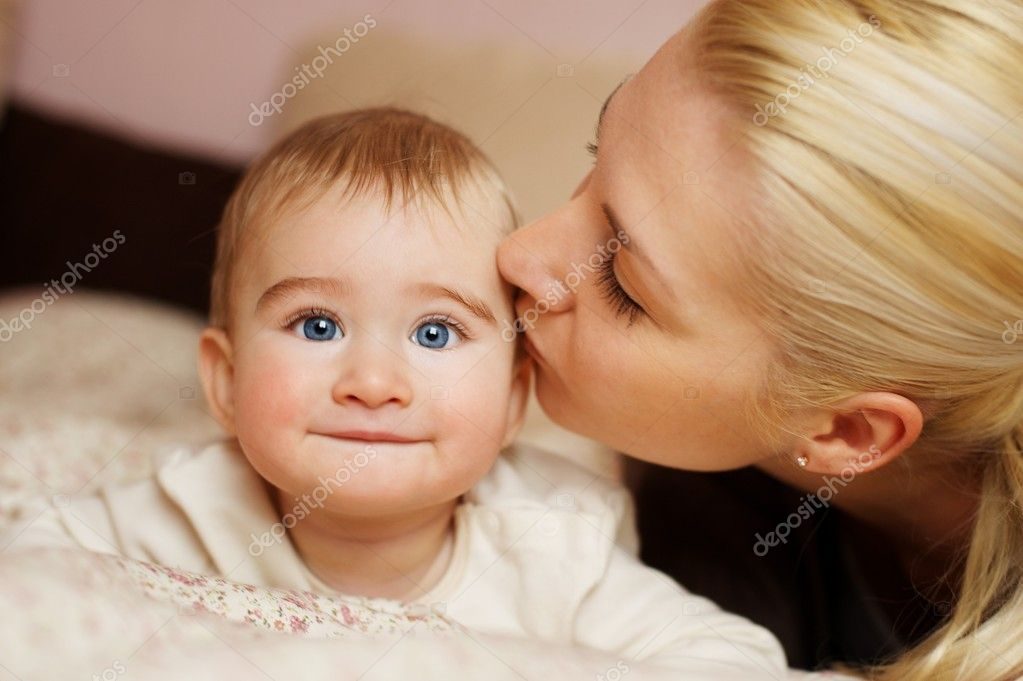 Mother with her adorable baby — Photo #8602812