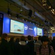 HANNOVER, GERMANY - MARCH 5: stand of the Intel on March 5, 2011 in CEBIT c — Stock Photo