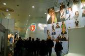 Hannover, tyskland - 5 mars: stå för g-data på mars 5, 2011 i cebit comp — Stockfoto
