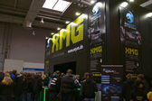 HANNOVER, GERMANY - MARCH 5: stand of the XMG on March 5, 2011 in CEBIT com — Stockfoto