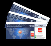 The day complimentary ticket for CEBIT 2012 — Stock Photo