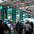 HANNOVER, GERMANY - MARCH 10, 2012: stand of the Kaspersky Lab in CEBIT computer expo, Hannover, Germany. CeBIT is the world's largest computer expo. Kaspersky Lab is a Russian computer security — Stock Photo #9553346