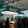 HANNOVER, GERMANY - MARCH 10, 2012: stand of the Kaspersky Lab in CEBIT computer expo, Hannover, Germany. CeBIT is the world's largest computer expo. Kaspersky Lab is a Russian computer security — Stock Photo