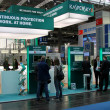 HANNOVER, GERMANY - MARCH 10, 2012: stand of the Kaspersky Lab in CEBIT computer expo, Hannover, Germany. CeBIT is the world's largest computer expo. Kaspersky Lab is a Russian computer security — Stock Photo #9553566