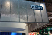 HANNOVER, GERMANY - MARCH 10: stand of Eset on March 10, 2012 in CEBIT computer expo, Hannover, Germany. CeBIT is the world's largest computer expo. — Foto Stock