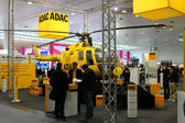 HANNOVER, GERMANY - MARCH 10: stand of ADAC on March 10, 2012 in CEBIT computer expo, Hannover, Germany. CeBIT is the world's largest computer expo. — Stock Photo