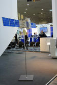 HANNOVER, GERMANY - MARCH 10: the russian satellite on March 10, 2012 at CEBIT computer expo, Hannover, Germany. CeBIT is the world's largest computer expo — Stock Photo