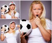 ボールを持つ女性のイメージ — Stock fotografie