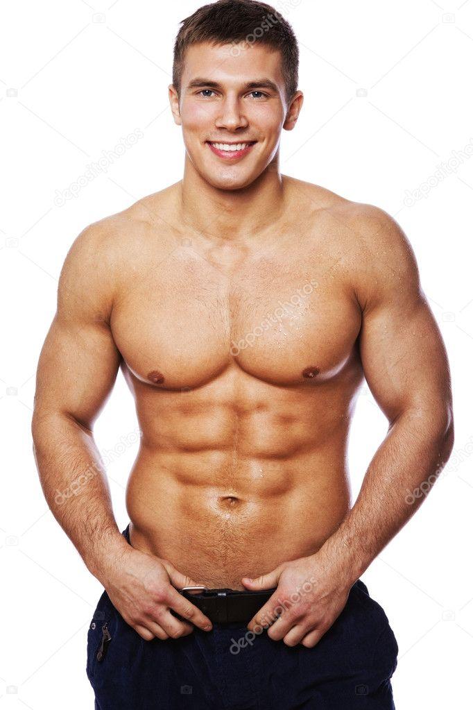 Imagen de hombre musculoso — Foto de stock © fxquadro