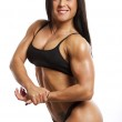 Image of muscle woman — Stock Photo
