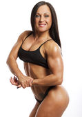 Image of muscle woman — Foto Stock