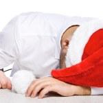 Image of tired employee — Stock Photo