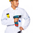 Image of handsome worker with tools — Stock Photo #8540651