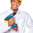 Image of handsome worker with tools — Stock Photo #8540655