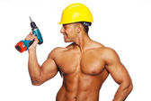 Sexy worker with screwdriver — Stock Photo