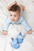 Image of little baby with shoes — Stock Photo
