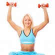 Image of sexy athletic woman — Stock Photo