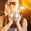 Image of party girl — Stock Photo
