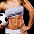 Image of sexy body with ball - Stock Photo
