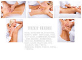 Image of massage in SPA — Stock Photo