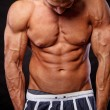 Image of muscle man - Stock Photo