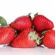 Fresh strawberries on white background — Stock Photo #10427257
