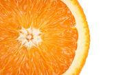 Slice of orange. isolated on white — Stock Photo